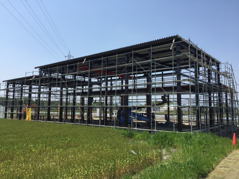 秦荘 倉庫鉄骨塗装